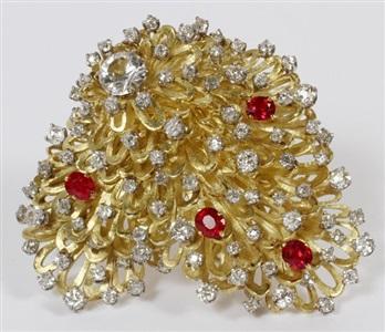 erwin pearl 6ct diamond spinel ladys pin