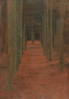 a fosset. sous les sapins by fernand khnopff