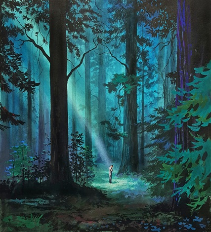 A Ray Of Light In The Forest: Book Cover Illustration By Hector Garrido
