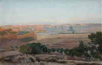 view of jerusalem by gustav bauernfeind