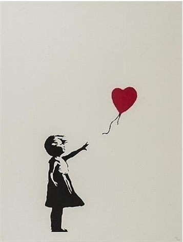 girl with red balloon by banksy on artnet. Black Bedroom Furniture Sets. Home Design Ideas