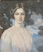 portrait of eloise lee sherman by norwood hodge macgilvary