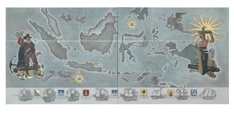 Map Of The Dutch East Indies By Lucy Mckenzie
