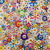 if i could reach that field of flowers, i would die happy by takashi murakami