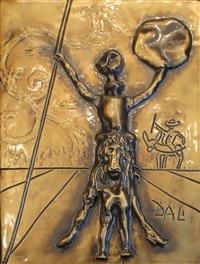 don quixote (bas relief sculpture) by salvador dalí