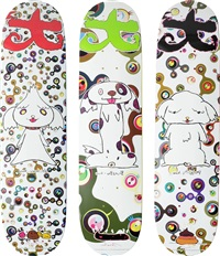 bunbu-kun; ponchi-kun; and shimon-kun (set of 3) by takashi murakami