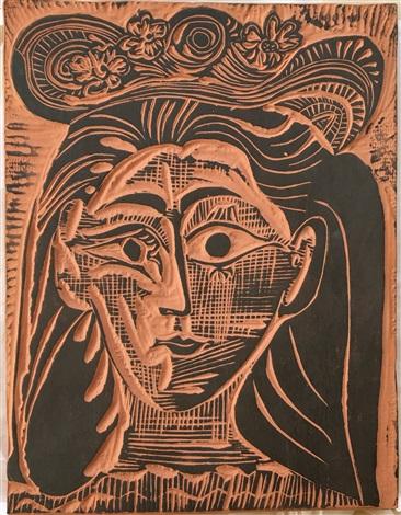 Femme au Chapeau Fleuri A. R. 521 by Pablo Picasso on artnet