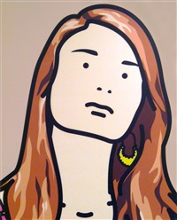 hannah, schoolgirl 2 by julian opie