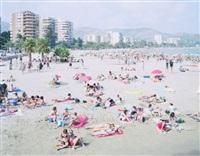 benicassim beach pink by massimo vitali