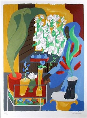 supermarket-flora by jacob lawrence
