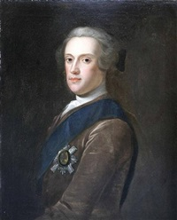 portrait of sir james hamilton, 6th duke of hamilton wearing the badge of the order of the thistle by jeremiah davidson