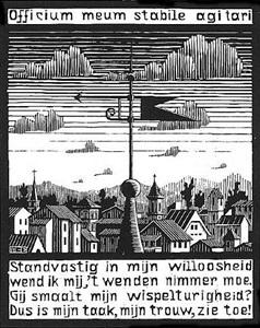 weather vane by m. c. escher