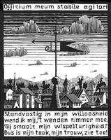 weather vane by m. c. escher