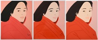 brisk day i; ii; iii (complete set of 3 works) by alex katz