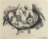 DISH OF APPLES, PEARS AND LEMONS, 1923