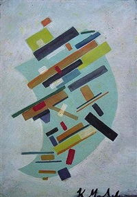 suprematism, abstract composition by kazimir malevich