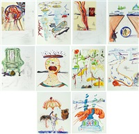 imagination and objects of the future (complete portfolio of 10 works) by salvador dalí