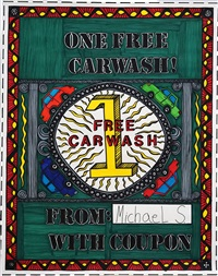 one free car wash! by michael scoggins