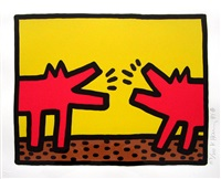 untitled pl. 4 (from pop shop iv series) by keith haring