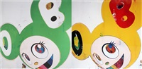 and then x6, green truth (+ and then x6 lemon pepper.; 2 works) by takashi murakami