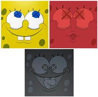 kawsbob (set of 3) by kaws