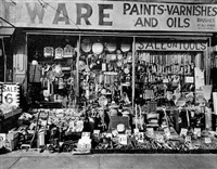 hardware store, 316-318 bowery, new york by berenice abbott