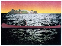 canoe - island by peter doig