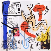 apocalypse, pl. vii (from the apocalypse series) by keith haring
