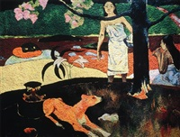 pastorales tahitiennes, after paul gauguin (from pictures of pigment series) by vik muniz