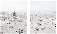 knokke beach (2 works) by massimo vitali