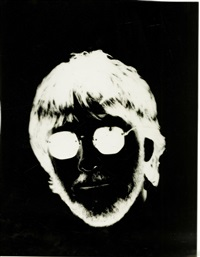 portrait of conceptual artist joseph kosuth by andy warhol