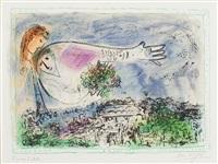 au-dessus de paris by marc chagall