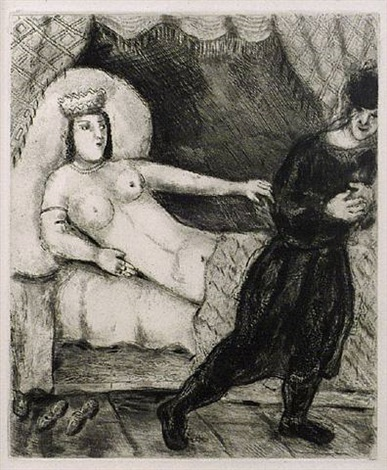 joseph and potipher's wife by marc chagall