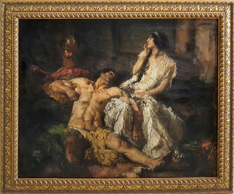 Samson And Delilah By Johannes Hendricus Jurres