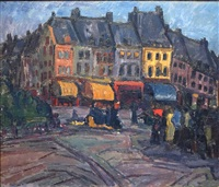 a street in amsterdam by karel appel