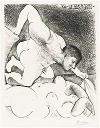 homme dévoilant une femme by pablo picasso