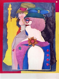out-of-towners (from fun city) by richard lindner