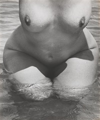 nude by the sea, camargue by lucien clergue