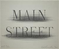 main street (from harvey gantt portfolio) by ed ruscha