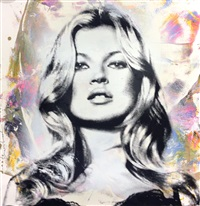 cover girl, kate moss by mr. brainwash