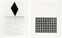 untitled (2 works) by victor vasarely
