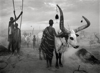 dinka group at pagarau cattle camp, southern sudan by sebastião salgado