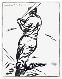 untitled (swinging between despairs) by raymond pettibon