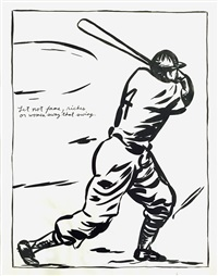untitled (let not fame, riches or women sway that swing by raymond pettibon