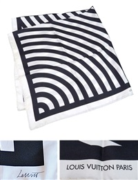 limited edition silk scarf for louis vuitton by sol lewitt