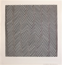 poster poem: descending by bridget riley