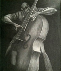 the bassist by ernie barnes