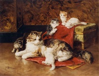 <i>the playful kittens</i> by marie yvonne laur