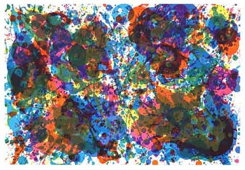 untitled (lembark 155) by sam francis