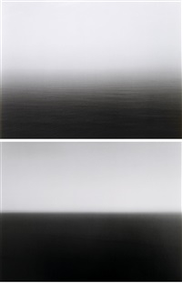 time exposed #316: atlantic ocean, cliffs of moher (+ time exposed #321: mediterranean sea, cassis ; 2 works) by hiroshi sugimoto